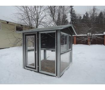 """Утеплённый домик с выгулом """"Зимняя мечта"""" на 10-15 кур"""