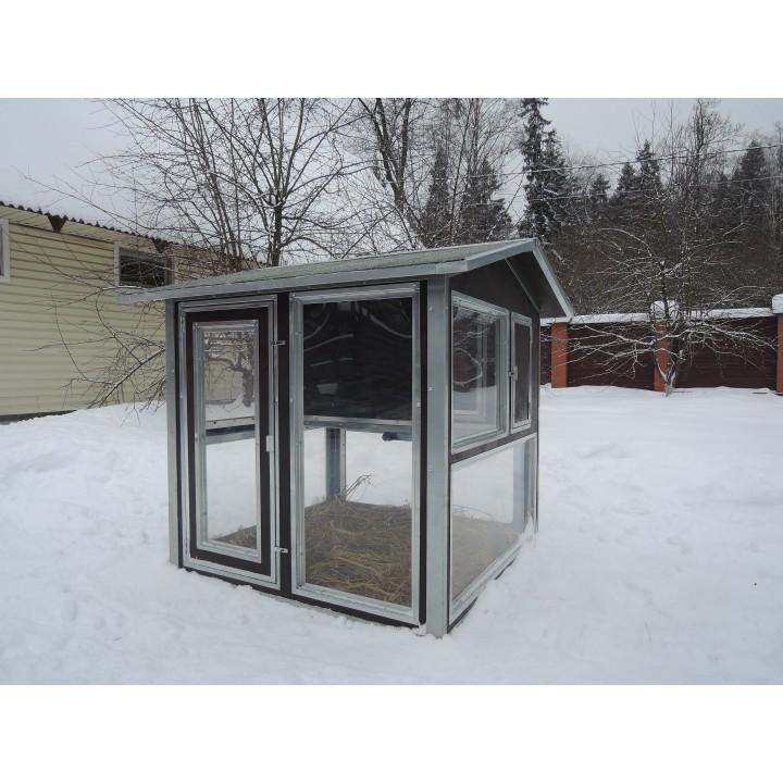 """Утеплённый домик с выгулом """"Зимняя мечта"""" на 10-15 кур купить"""