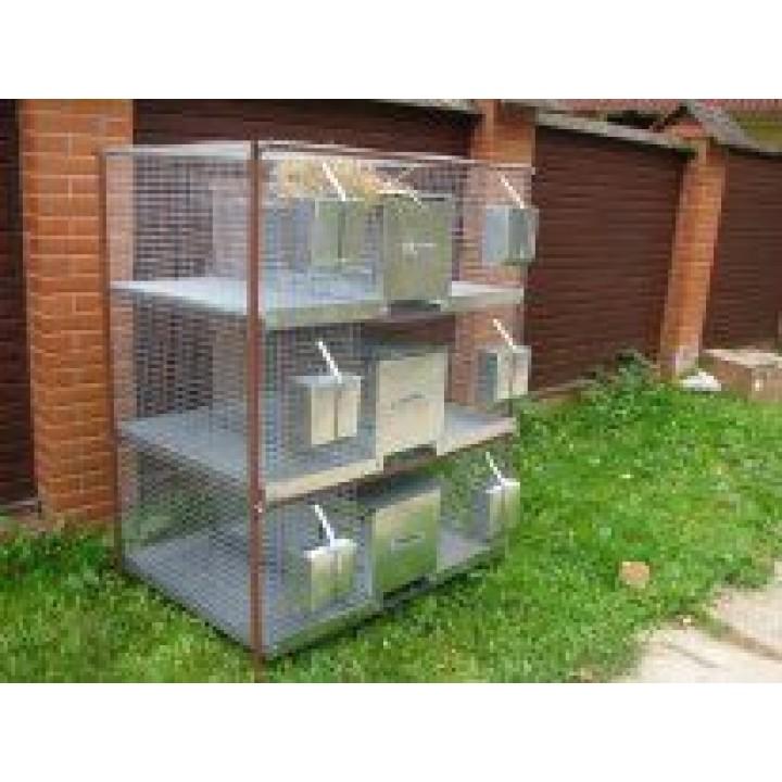 Клетка для кроликов 2-3му (увеличенная) с новой системой расположения маточного купить