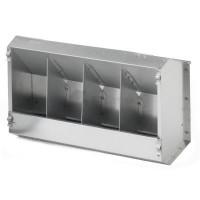 Кормушка бункерная для кроликов 4 секц. металл с крышкой