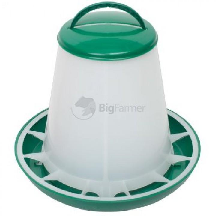 Кормушка бункерная 1 кг пластик с разделительной решеткой зеленая