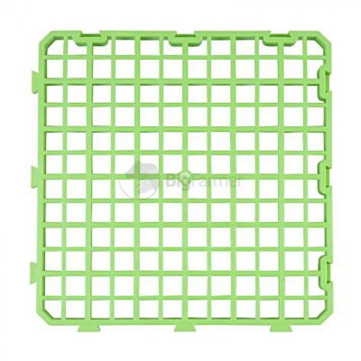 Пластиковый пол для кроликов 25х25 см (зеленый)