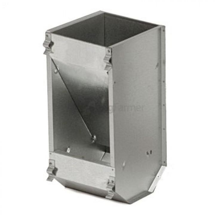 Кормушка бункерная для кроликов 1 секц. металл без крышки