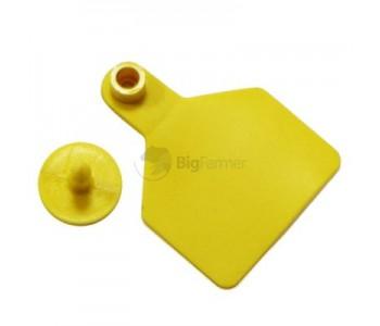 Бирка ушная двойная желтая