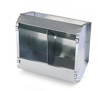 Кормушка бункерная для кроликов 2 секц. металл 235 мм без крышки