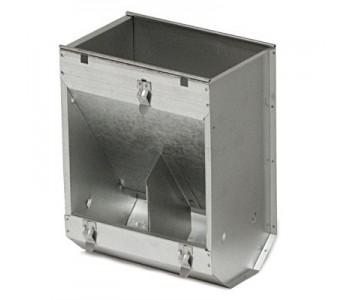 Кормушка бункерная для кроликов 2 секц. металл без крышки