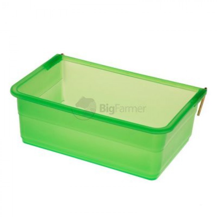 Кормушка-поилка навесная 0,8 л пластик