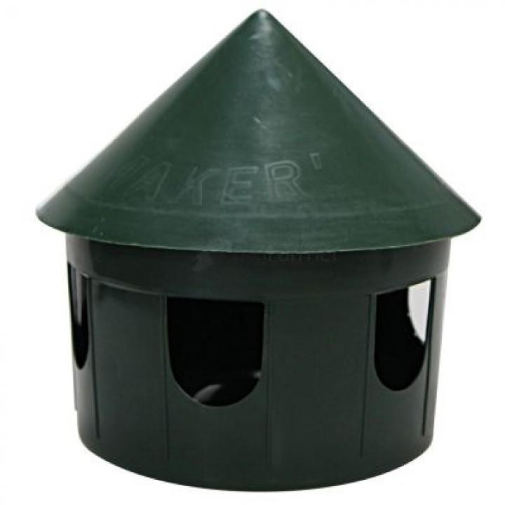 Кормушка Ø22 см для птиц темно-зеленая