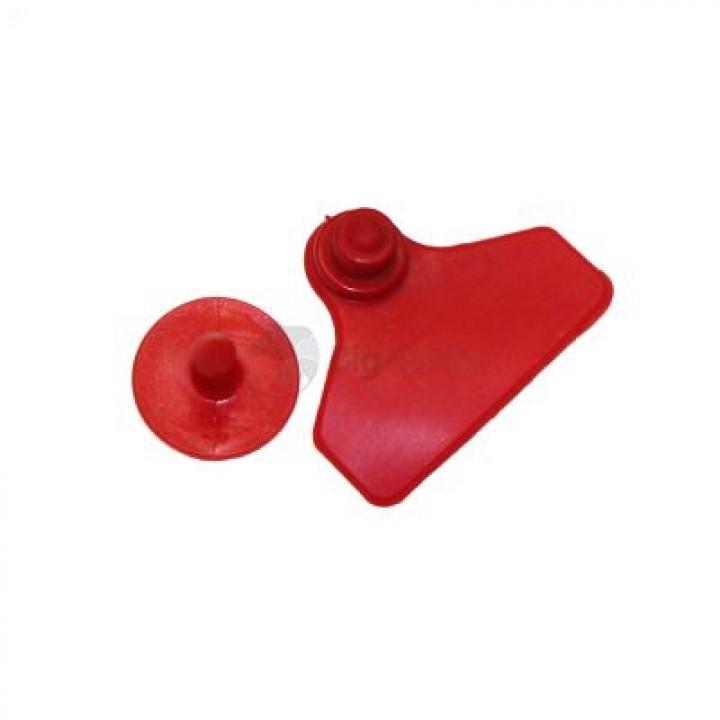 Бирка ушная двойная красная малая