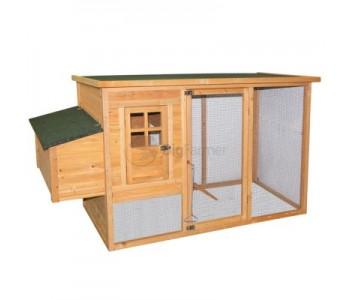 Курятник 198х75,5х103 см, с выгулом и гнездом