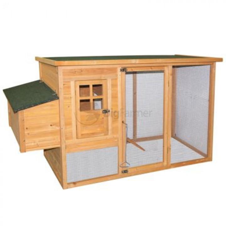 Курятник 198х75,5х103 см, с выгулом и гнездом купить