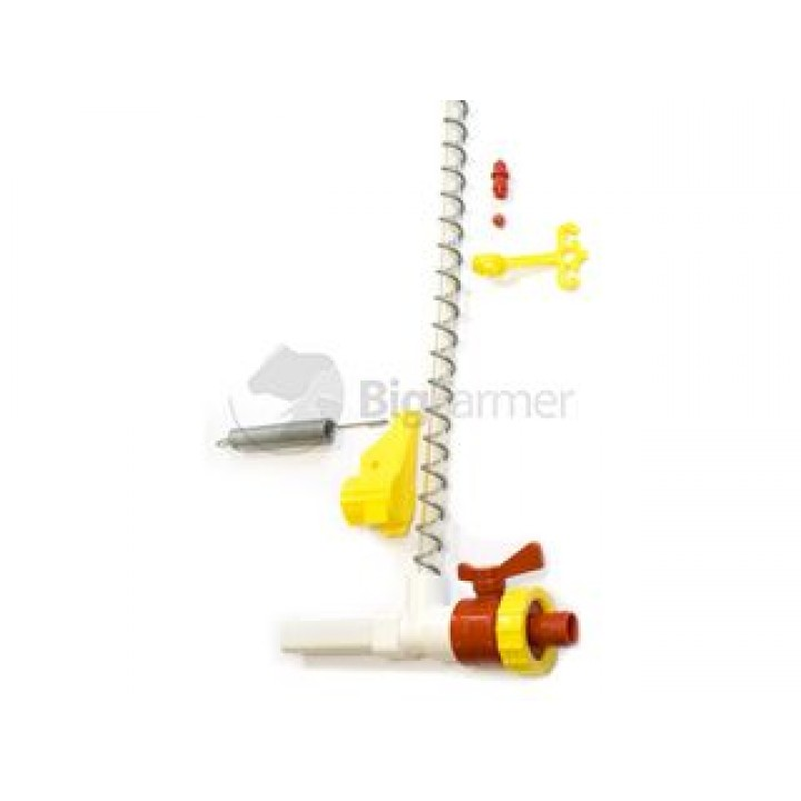 Концевик для линии поения с краном для трубы 22х22 мм