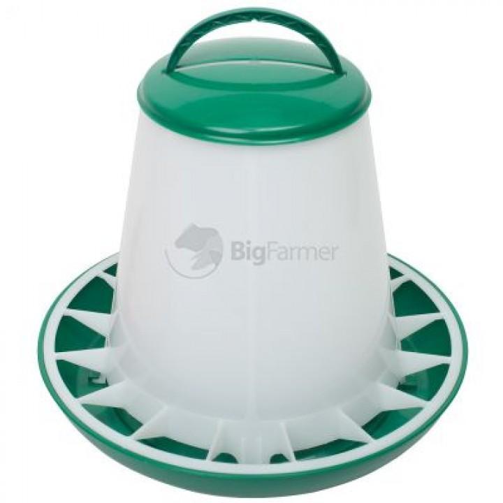 Кормушка бункерная 3 кг пластик с разделительной решеткой зеленая