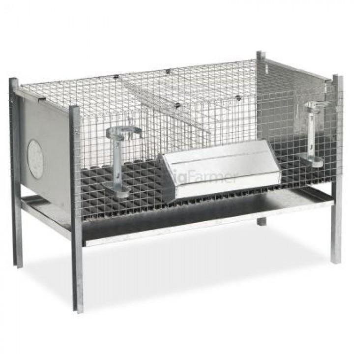 Клетка для кроликов 102 см двухсекционная для отлучения