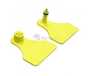 Бирки ушные MultiFlex A двойные, желтые