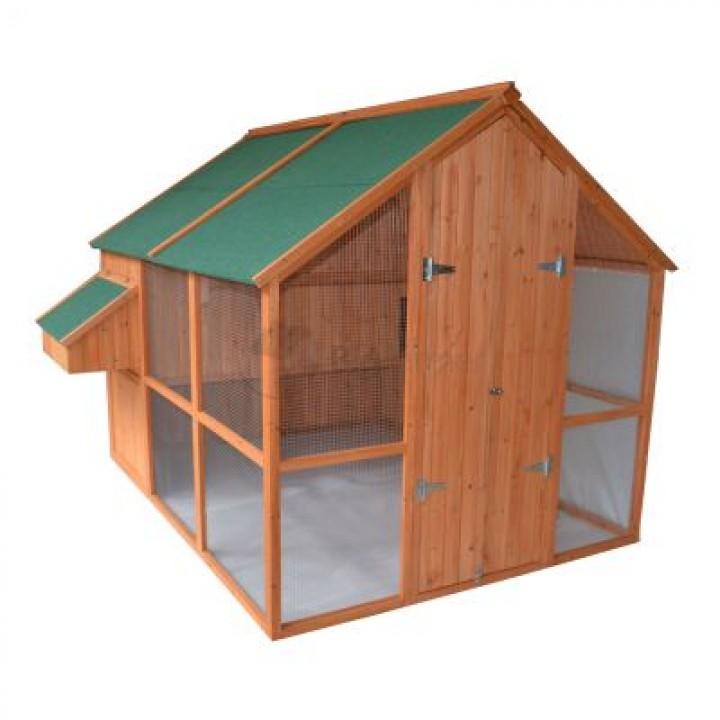 Курятник 244х189х190 см, с выгулом и гнездом купить