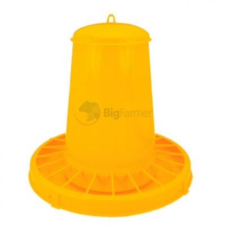 Кормушка бункерная 15 кг пластик с разд. решеткой для кур