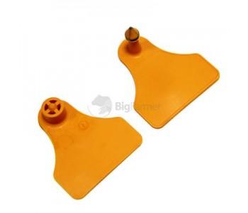 Бирки ушные MultiFlex A двойные, оранжевые
