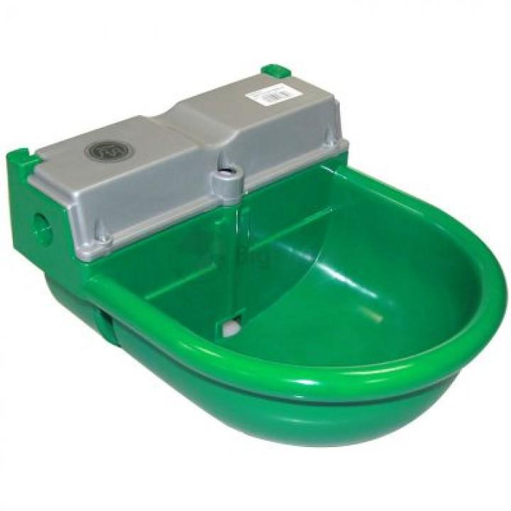 """Поилка чашечная для КРС, лошадей и овец пластик, с боков. подв. 1/2"""", зеленая"""
