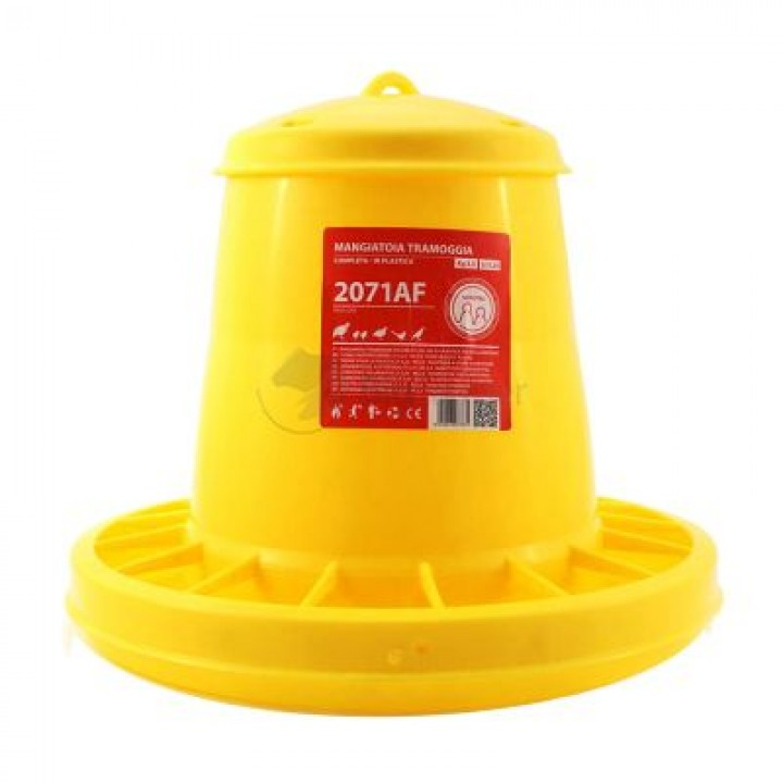 Кормушка бункерная 3,5 кг пластик с разд. решеткой для цыплят
