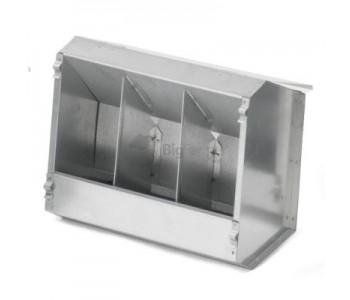 Кормушка бункерная для кроликов 3 секц. металл с крышкой