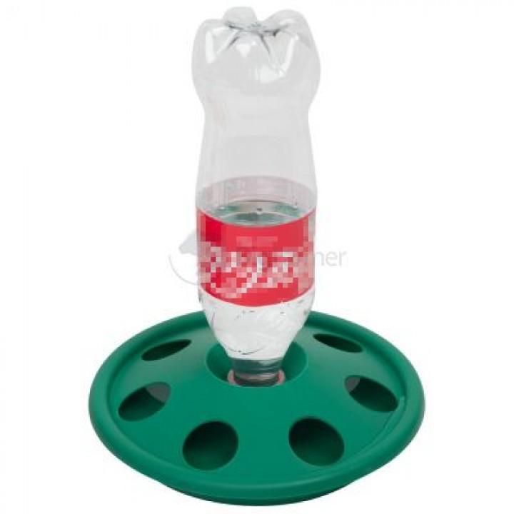 Поилка под бутылку напольная с отверстиями /7 ячеек пластик