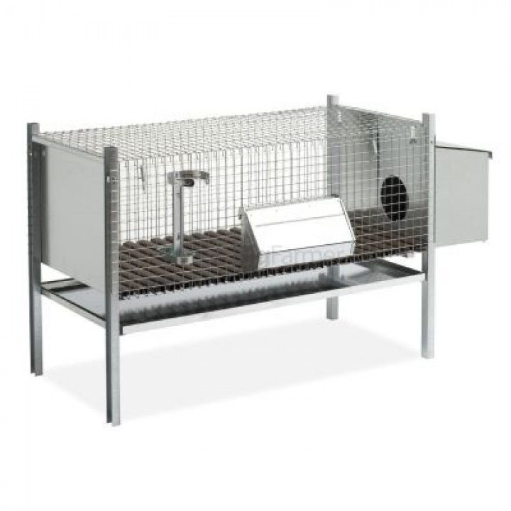 Клетка для кроликов 102 см с гнездом для самки
