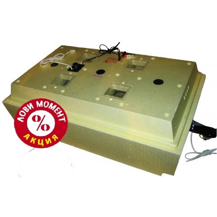 Инкубатор Золушка А-98 -12В автоматический на 98 яиц